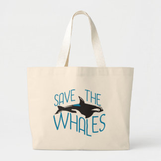 Save the Whales Large Tote Bag