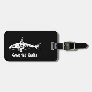 Save the Whales Travel Bag Tag