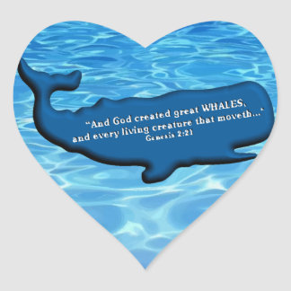 Save the Whales Merchandise 100% royalties Donated Heart Sticker