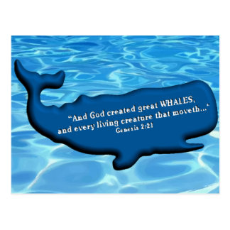Save the Whales Merchandise 100% royalties Donated Postcard