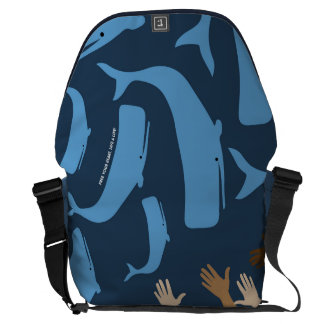 Save the Whales Courier Bags
