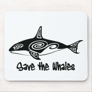 Save the Whales Mouse Pad