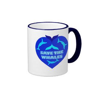 SAVE THE WHALES COFFEE MUGS