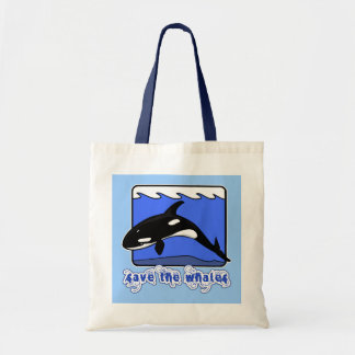 Save the Whales Orcas Products Canvas Bag
