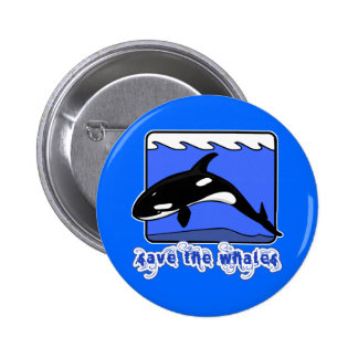 Save the Whales Orcas Products Pins