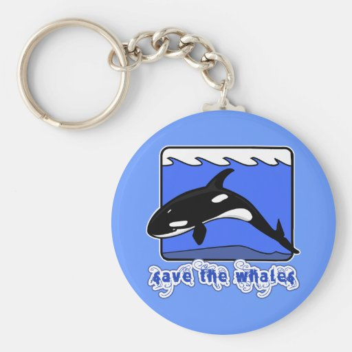 Save the Whales Orcas Products Key Chains