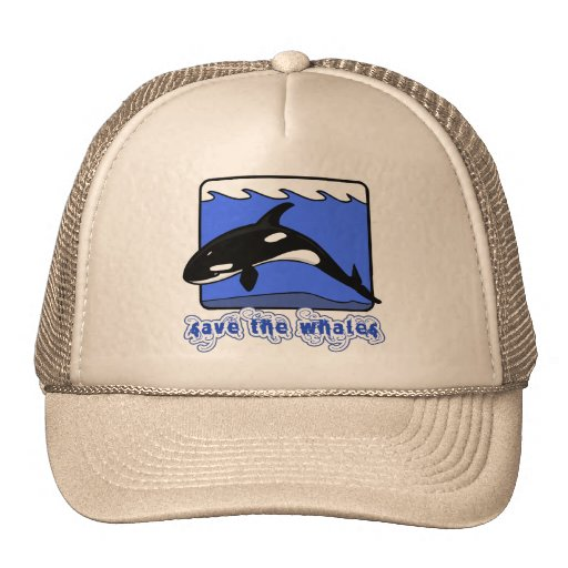 Save the Whales Orcas Products Trucker Hat