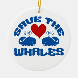 SAVE THE WHALES ornament - customize