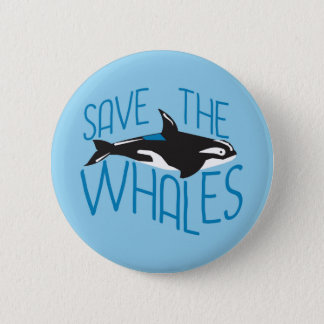 Save the Whales Pinback Button