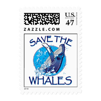 Save the Whales Postage Stamp