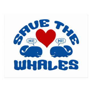 SAVE THE WHALES postcard