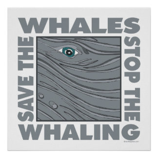 Save the Whales Poster