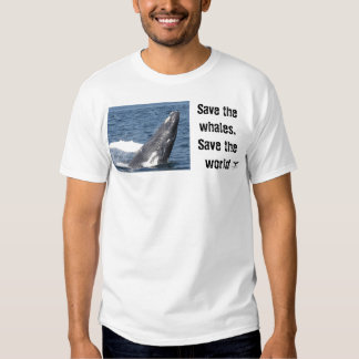 Save the whales, Save the world T-shirt