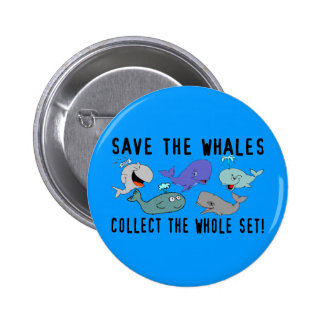 Save The Whales Set Pinback Button