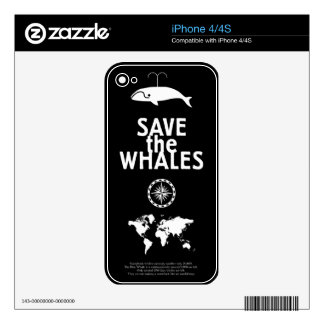 Save the Whales iPhone 4 Skins