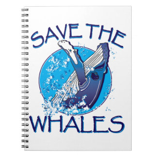 Save the Whales Spiral Notebook