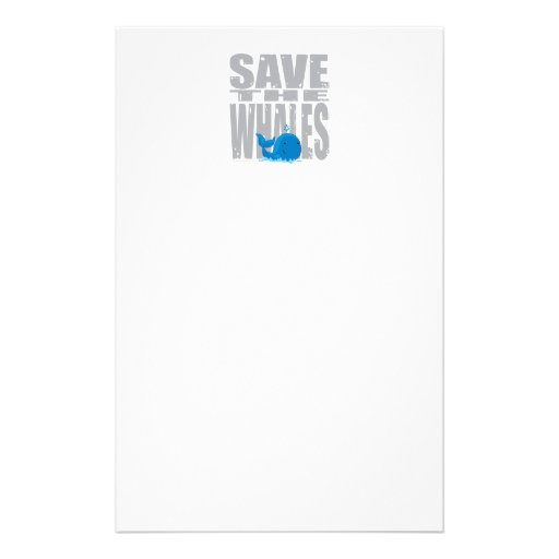 Save the Whales Stationery
