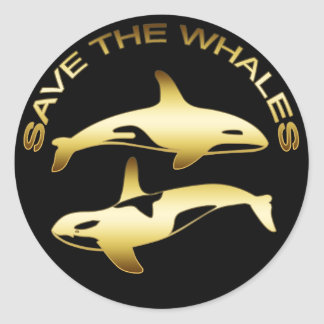 SAVE THE WHALES STICKERS