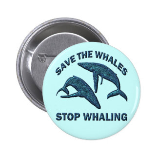SAVE THE WHALES STOP WHALING PINS