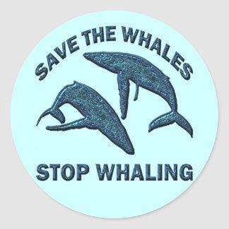 SAVE THE WHALES STOP WHALING STICKER