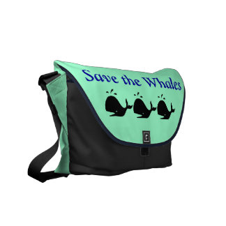 """""""Save the Whales"""" travel bag Commuter Bags"""