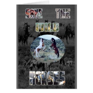 Save The Wild Horses Card