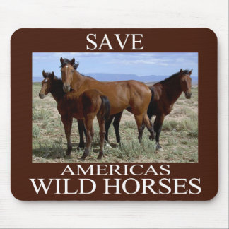 Save the Wild Horses Mouse Pad