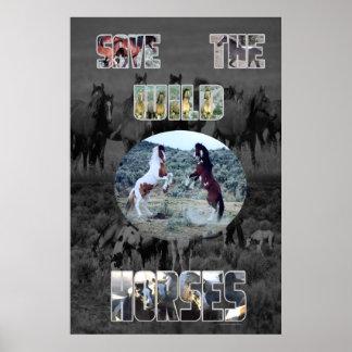 Save The Wild Horses Print