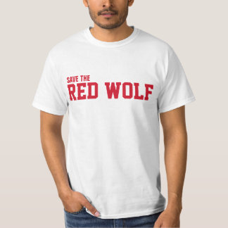 Save the wild Red Wolf from extinction T-Shirt