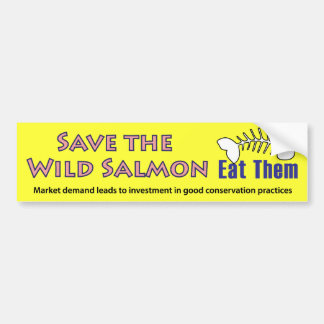 Save the Wild Salmon Bumper Sticker