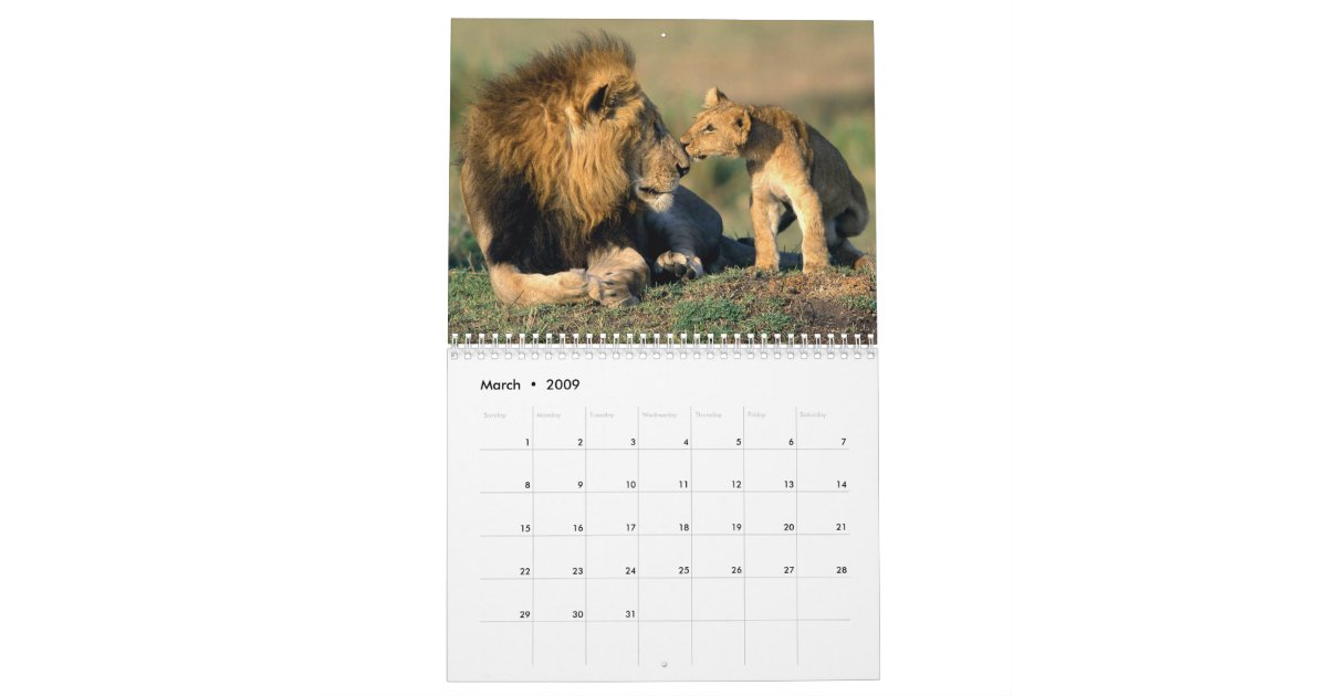 Save The Wildlife Babies Calendar  Zazzle