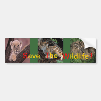 Save the Wildlife Bumper Sticker