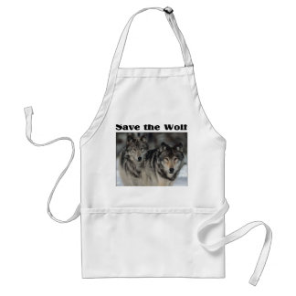 Save the Wolf Aprons