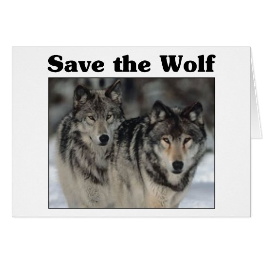 Save the Wolf Card