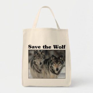 Save the Wolf Grocery Tote Bag