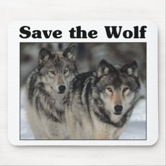Save the Wolf Mouse Pad