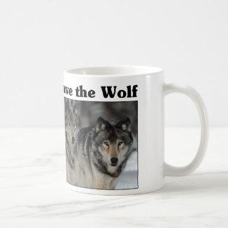 Save the Wolf Classic White Coffee Mug