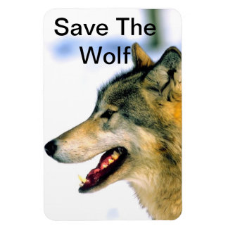 Save the Wolf  Photograph Primium Magnet