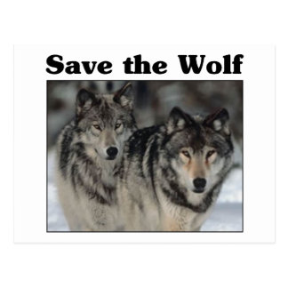 Save the Wolf Postcard
