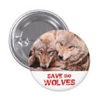 Save the Wolves Button