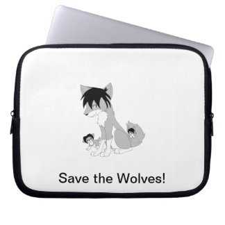 Save the Wolves! Computer Sleeve
