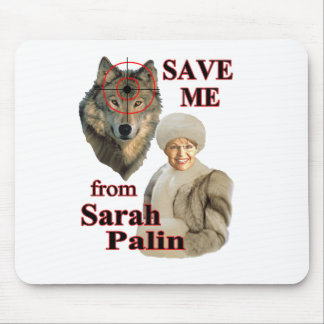 Save the Wolves from Sarah Palin Mouse Pad