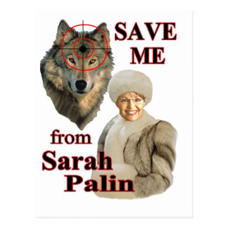 Save the Wolves from Sarah Palin Postcards