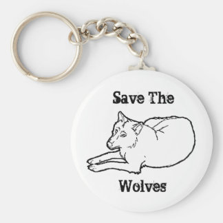 Save The, Wolves Keychain