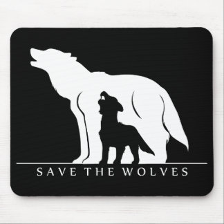 Save the Wolves Mouse Pad