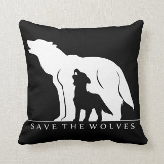 Save the Wolves Pillow