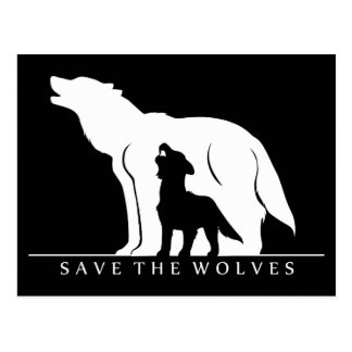 Save the Wolves Postcard