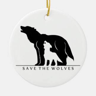 Save the Wolves (white ver.) Ceramic Ornament