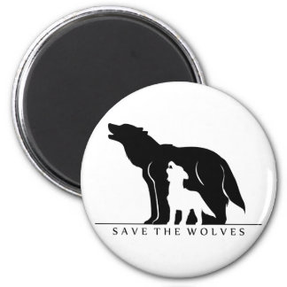 Save the Wolves (white ver.) Magnet