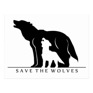 Save the Wolves (white ver.) Postcard